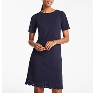 Ann Taylor Eyelet Hem T-Shirt Dress